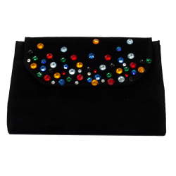 Coloured crystal clutch