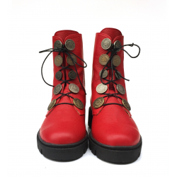 "Red ""Minimal"" leather boots"