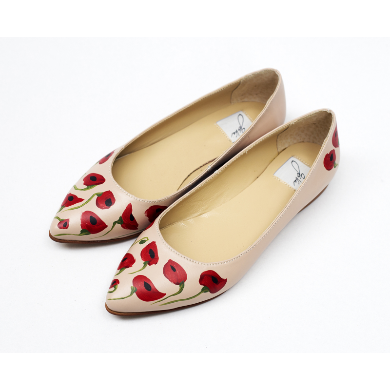 Poppy Leather Flats