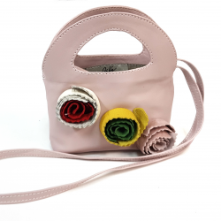 Pink mini leather bag
