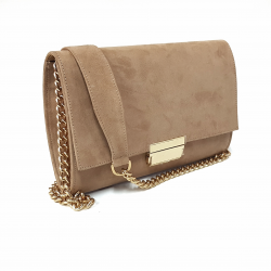 """Nude"" leather clutch"