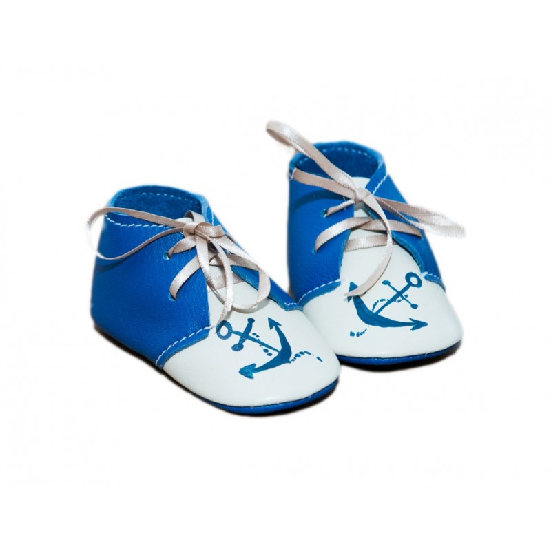 Anchor leather bootees