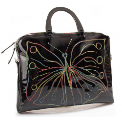 Laquered leather bag
